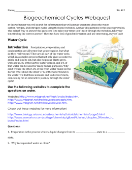 biogeochemical cycles webquest. Black Bedroom Furniture Sets. Home Design Ideas