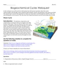 biogeochemical cycle webquest answers