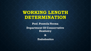 Working Length Determination [PPT]