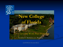 New College of Florida - State University System of Florida