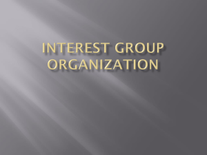 Interest Group Organization Interest Groups