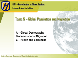 Topic 5 * Migration and Health