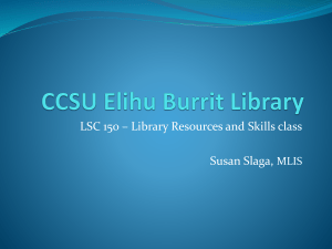 CCSU Elihu Burrit Library - Connecticut Library Information Literacy
