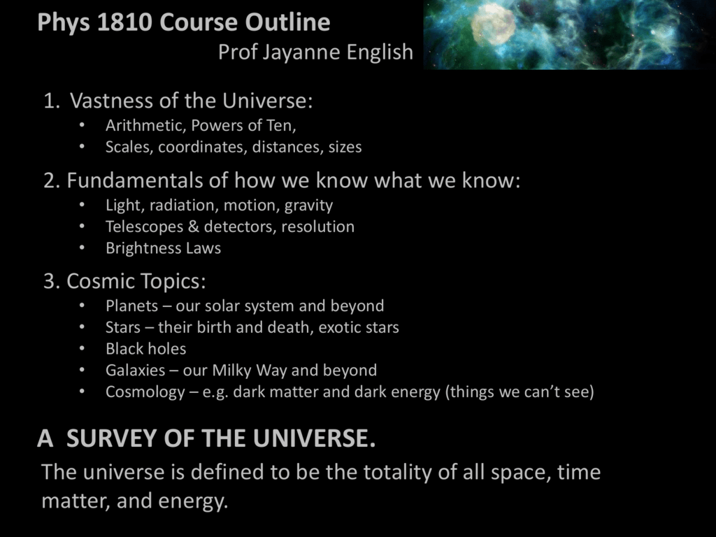 Lecture 2 - Department of Physics and Astronomy