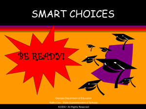 Smart Choices - Cherokee County Schools