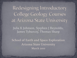 Redesigning Introductory College Geology Courses at Arizona State
