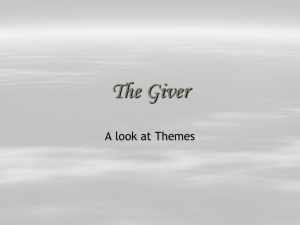 Theme in the GIVER