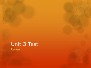 Unit 3 Test - Madison County Schools