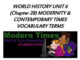 W. Hist. U6 Chapter 28 Vocab Power Point