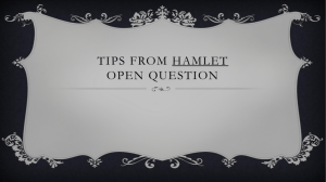 Tips from Hamlet Open question