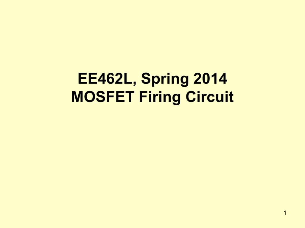 Mosfet Firing Circuit Class Notes 240w Amplifier