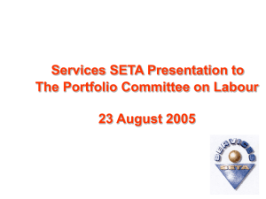 An introduction to the Services Sector Education and Training