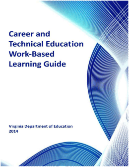 acknowledgments - Virginia's CTE Resource Center