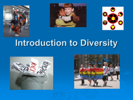 An Introduction to Understanding Diversity