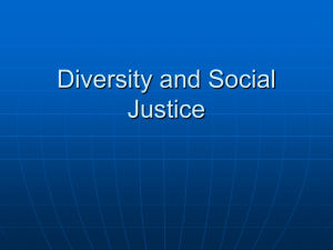 Diversity and Social Justice
