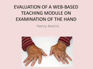 evaluation of web-based teaching module on examination of the hand