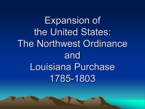 Expansion of the United States: The Northwest Ordinance and