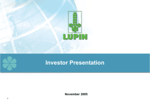 Lupin Corporate Presentation Nov 2005