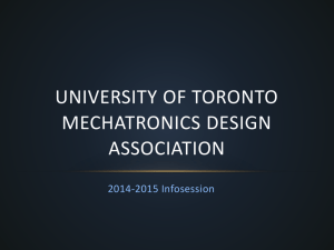 University of Toronto Mechatronics Design Association