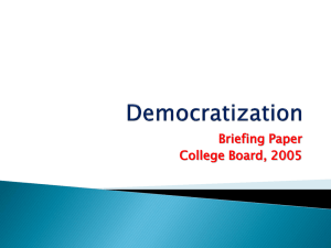 Democracy & Democratization for NetClassroom