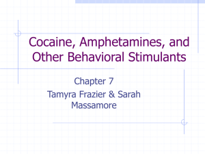 Cocaine, Amphetamines, and Other Behavioral Stimulants