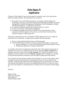 Delta Sigma Pi Application - Krannert School of Management