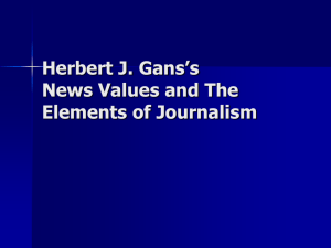 Herbert J. Gans's News Values