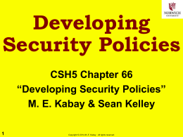 Developing Security Policies
