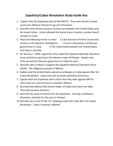Zapatista and Cuban Revolution study guide key