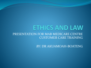 ethics and law 2-4