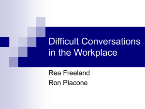 Difficult Conversations in the Workplace