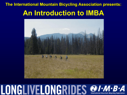 IMBA Rules of the Trail