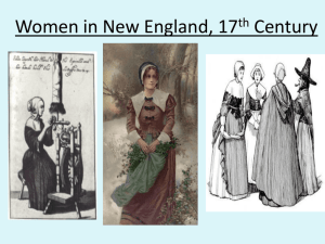 Women in New England, 17th Century