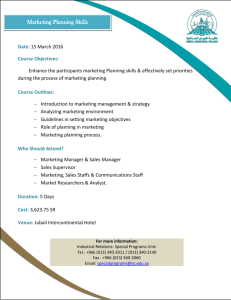 Who Should Attend? - Jubail Industrial College