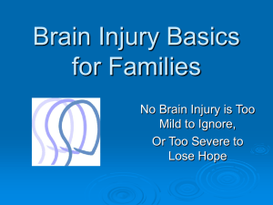 Brain Injury Basics for Families in NJ (PowerPoint)