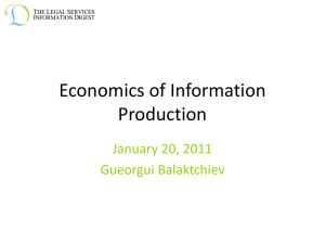 Economics of Information Production