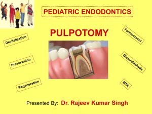 pulpotomy [ppt]