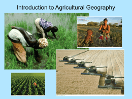 Origins of Agriculture (with Sauer Theory)