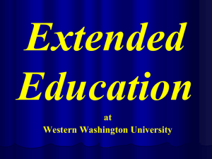 Extended Education - Western Washington University