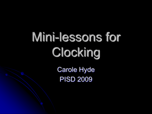 Mini-lessons for Clocking
