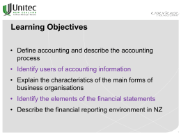 Definition of 'Accounting'