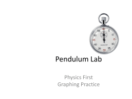 lab report compound pendulum in different Sample lab procedure and report the simple pendulum in this laboratory, you will investigate the effects of a few different physical variables.