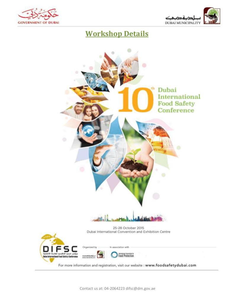 26 October 2015 - Dubai International Food Safety Conference