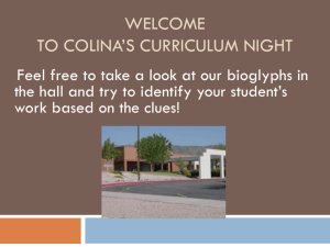 Welcome to Colina*s Curriculum Night