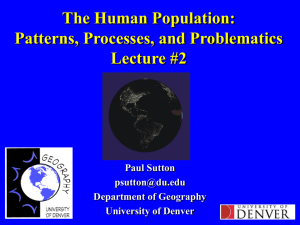 An Overview of Methods for Estimating Urban Populations Using