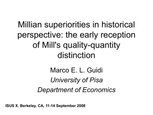 Millian superiorities in historical perspective: the early reception of