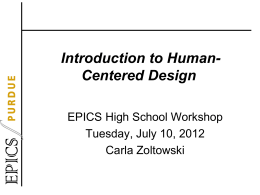 Intoduction to Human Centered Design