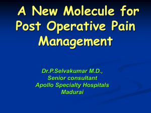 The management of postoperative pain
