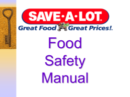 Food Safety Manual - Jamieson Family Markets