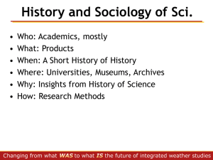 History and sociology of science